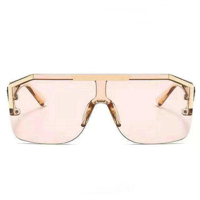 Gradient Square vast Sunglasses Men Women 2021 Trendy Vintage Brand Design Oversized Rimless Sun Glasses For Female Eyewear UV400