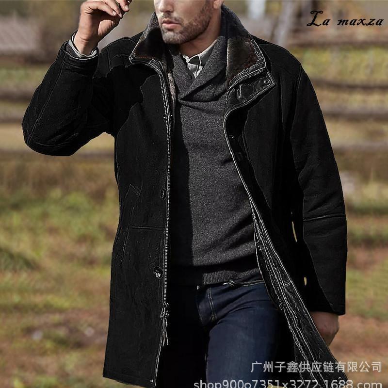 Moda casual uomo Cappotto 2021 Arrivo Single Breasted Allentato cashmere Plus Size 3XL Miscele di lana da uomo