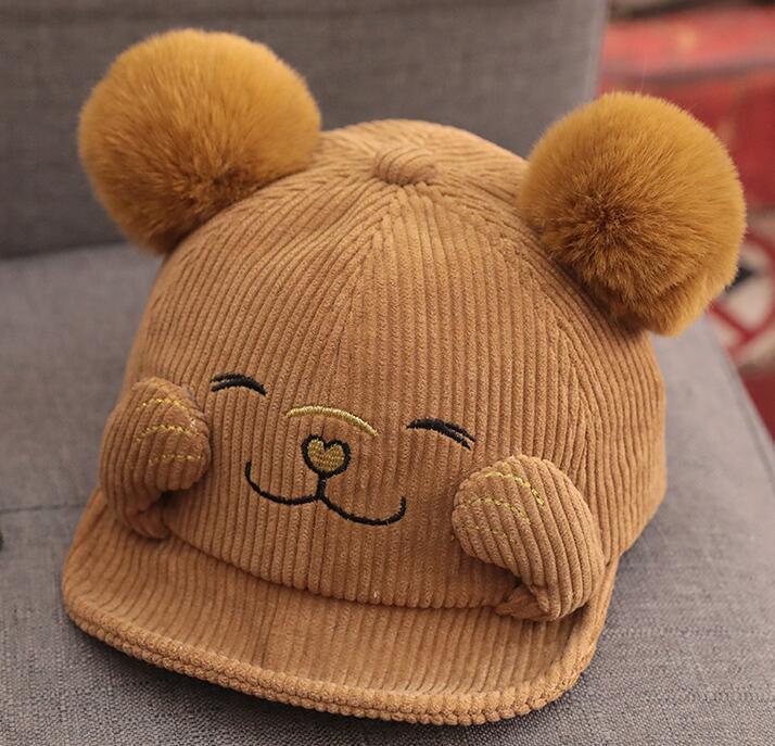 Aby chapéu Outono e inverno temporada moda boné de bebê 0-1 anos de idade 2 crianças meninas meninos boné de beisebol outono e inverno 46-50cm