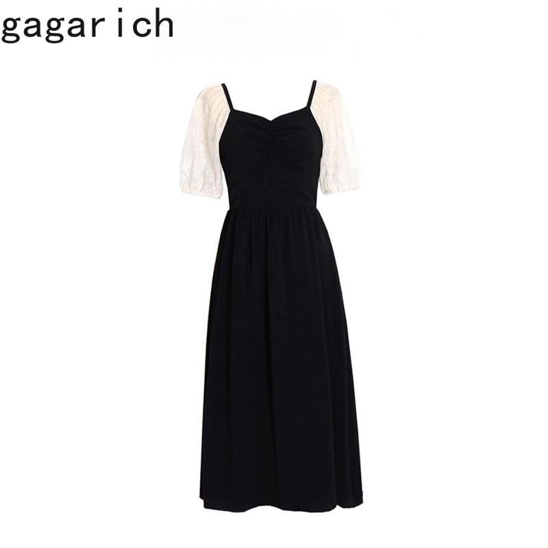 Chic Vestidos Mujer Verano Estilo japonés Francia Gentle Stitching Slim Versátiles elegantes Vestidos 210506