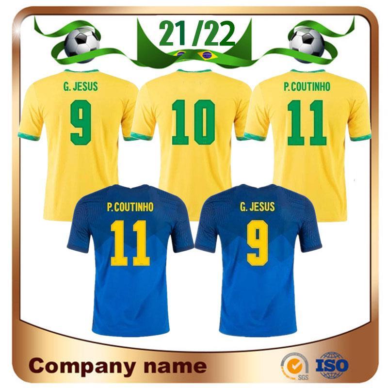 20/21 Jersey Soccer 2021 Home G.Jesus Neymar Jr P.Coutinho Camisa D.Costa Marcelo Futebol Uniforme