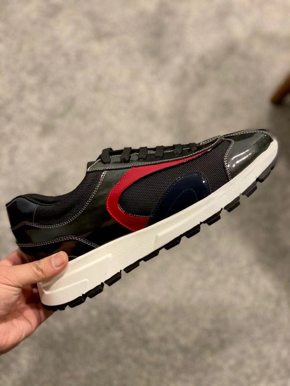40٪ خصم أزياء العلامة التجارية الكلاسيكية عارضة الأحذية للرجال أحذية رياضية النمر المطرزة ايس مصمم تنفس مريحة بيع الحجم 46