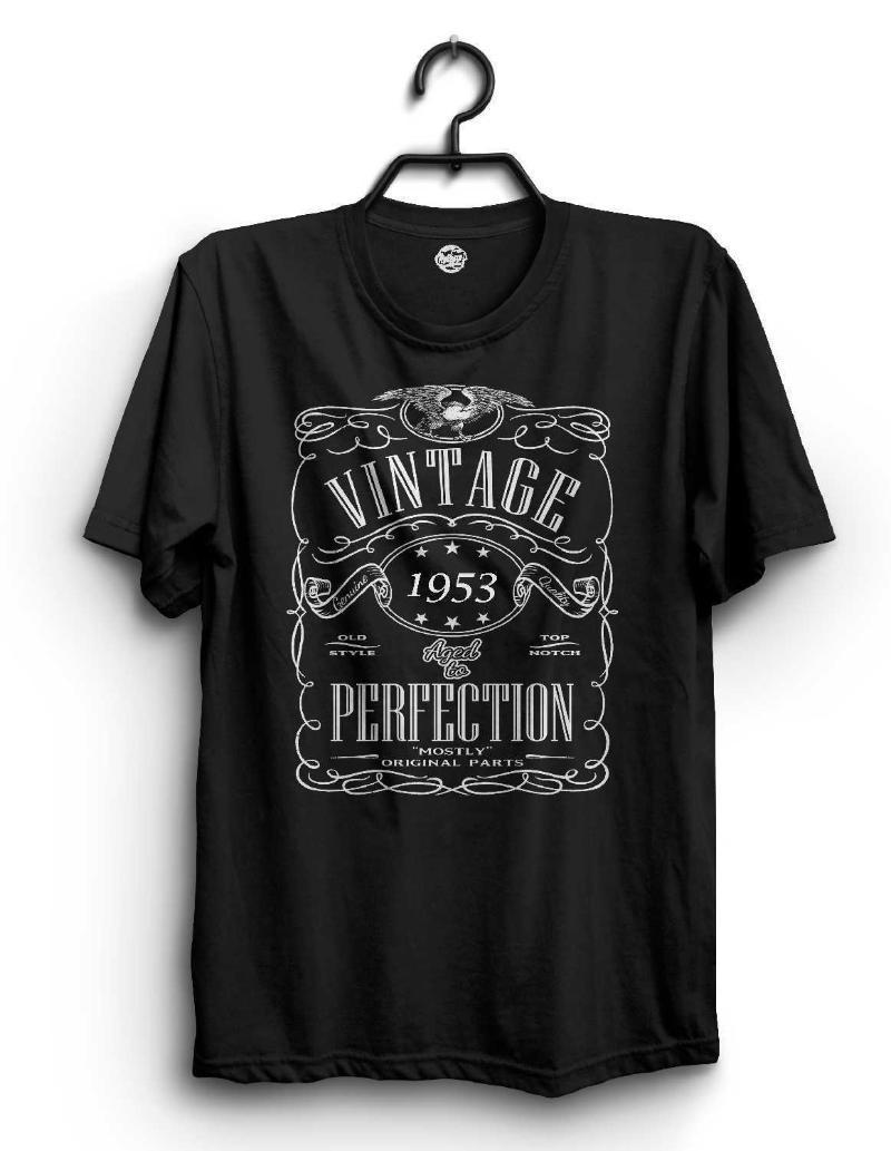 Camisetas para hombres Los diseños frescos que venden hombres 65th camisa de cumpleaños - en 1953 T-shirt de la vendimia