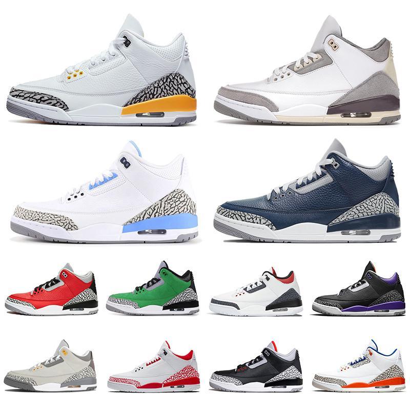 retro 3 aj 3s TOP QUALITY جديد وصول 2020 Jumpman UNC الرجال النساء أحذية كرة السلة جزء نيكس ينافس شيكاغو المدربين مصمم أحذية رياضية الحجم لنا 13
