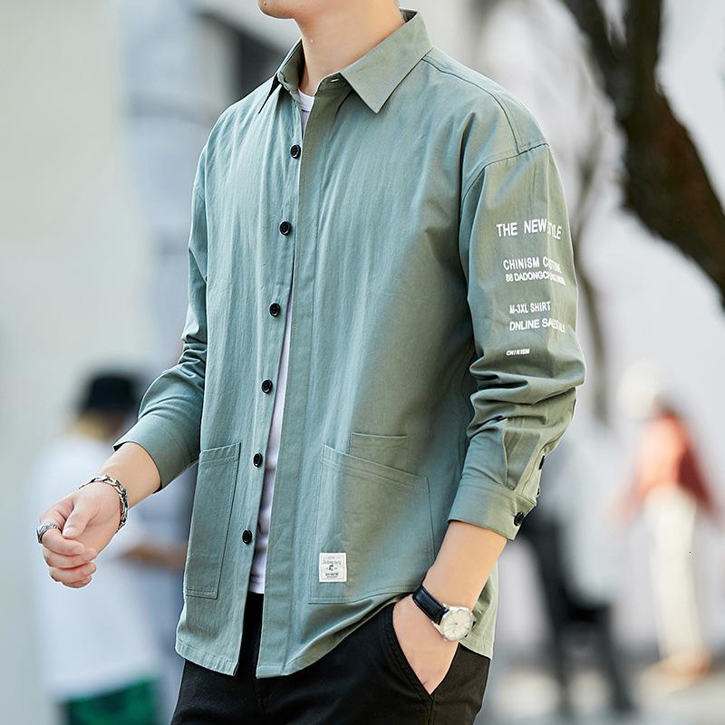 Camisa hombres 2021 primavera y verano manga larga negocio ocio delgado coreano moda guapo hombre traje camisa blanca