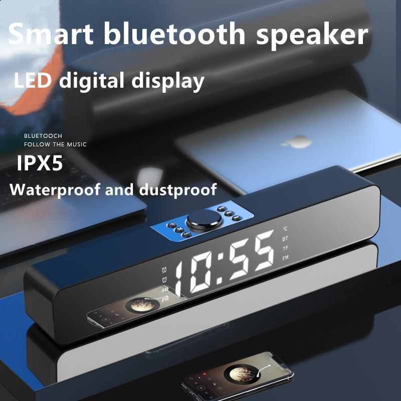 Wireless Bluetooth Speaker LED Soundbar TV Alarm Clock Home Theater Sound Bar FM Radio Subwoofer Computer Speakers Som
