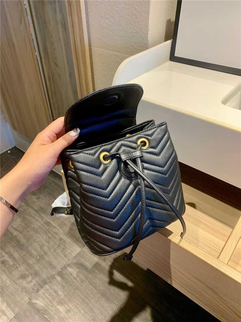 مصمم رسائل الفاخرة الماس شعرية إلكتروني المرأة أزياء حقيبة الظهر حقائب عادي معدنية هندسية سلسلة دلو أكياس