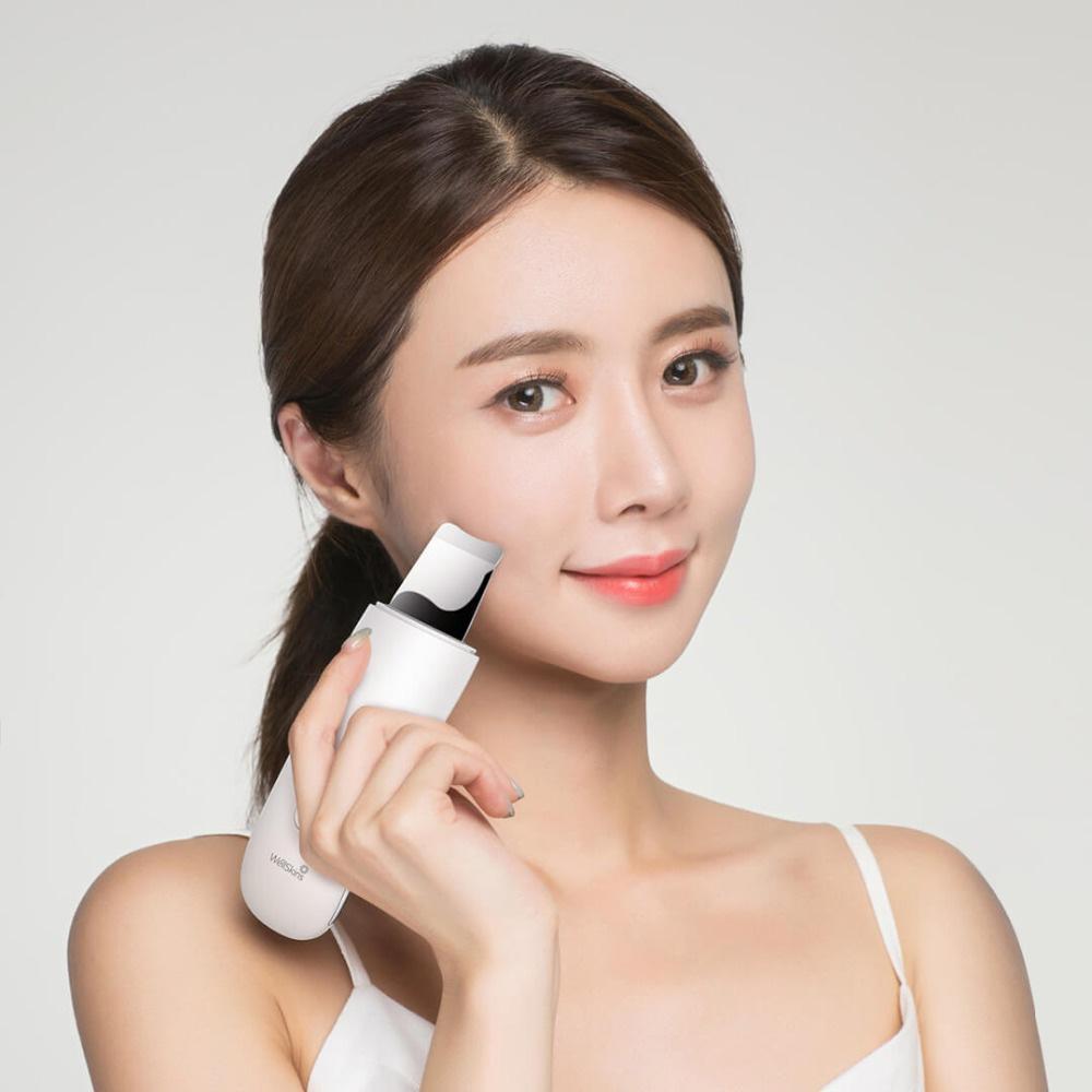 Xiaomi Wellskins Ultrasonic Facial Skin Scrubber Blackhead Remove Deep Face Cleaning Rechargeable Beauty Instrument