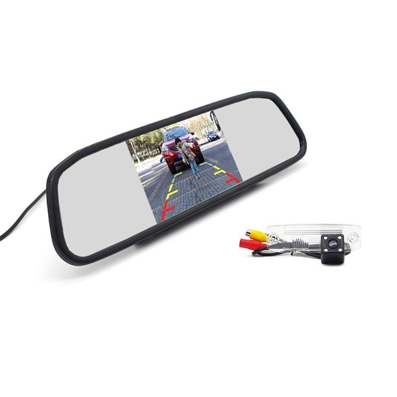 """سيارة الرؤية الخلفية كاميرات وقوف السيارات مجسات 4.3 """"مرآة مراقب + كاميرا ل كيا سبورتاج ص كارينز بورغو سورينتو أوبيروس موهيف جيد"""