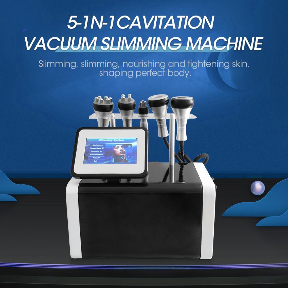Neueste Produkte 2021 LIPO LASER SERVINLING MACHINE VERLASSEN WEITER RF 6 in 1 80k Vakuumkavitation Ultraschall