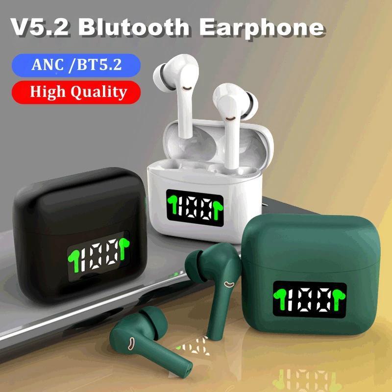 TWS Bluetooth 5.2 Наушники сенсорные беспроводные наушники наушники-наушники шумоподавлено спортивные игровые гарнитуры для телефонов iOS Android