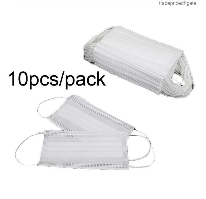 Jetable 10pcs Face Face Dessin animé Enfants Dustoutes Masque de protection des tissus non tissés anti-fog Anti-Fog Anti- 11m1H