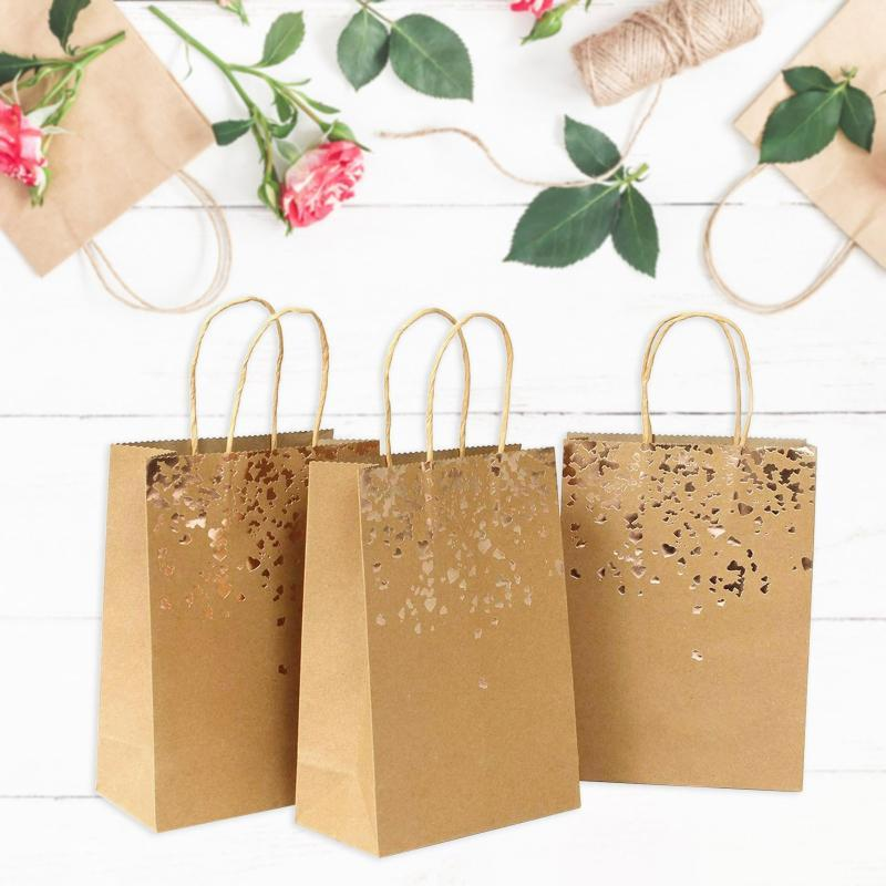 Gift Wrap 10pc/50pc Cowhide Bag Bags Kraft Paper Birthday Wedding Christmas And Festive Celebrations For Shop Supplies