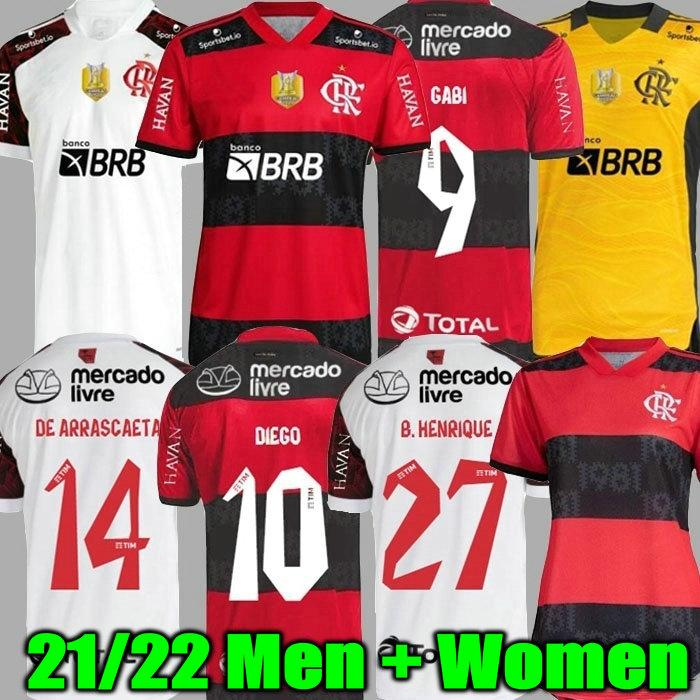 21 22 Flamengo Jersey 2021 2022 Guerrero Diego Vinicius Jr Jerseys Flamand Gabriel B Sports Football Hommes et femme