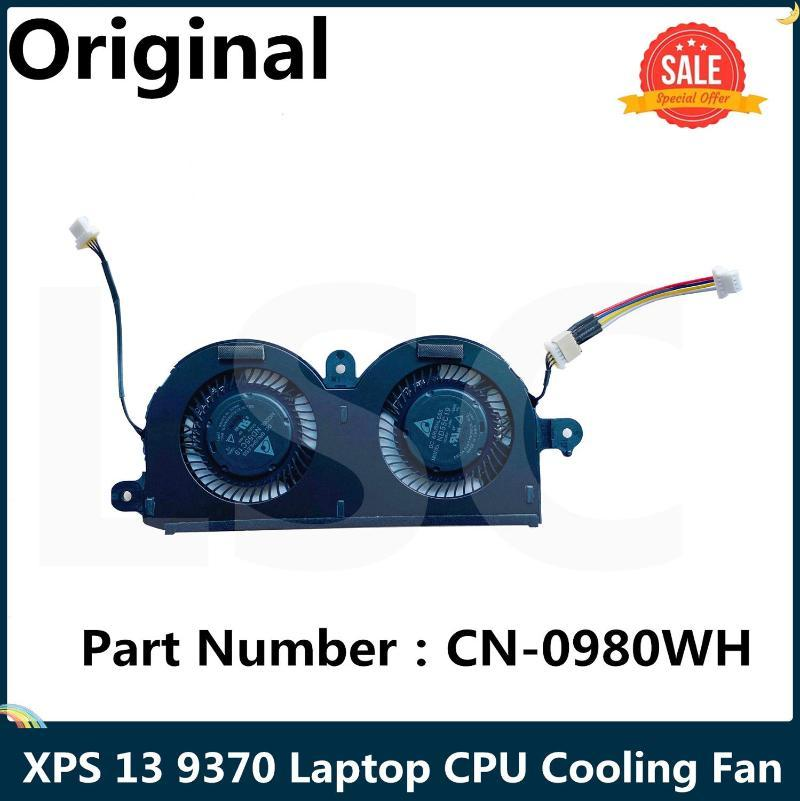 Para XPS 13 9370 Laptop CPU Ventilador de refrigeración ND55C19 DC05V 0.40A -16M01 4PIN CN-0980WH 0980WH 980WH 980WH 100% PAD