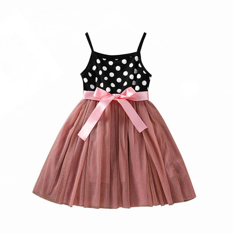 Vestidos da menina bebê meninas roupas casuais crianças vestir verão algodão ponto tutu princesa 2-6Y B4360