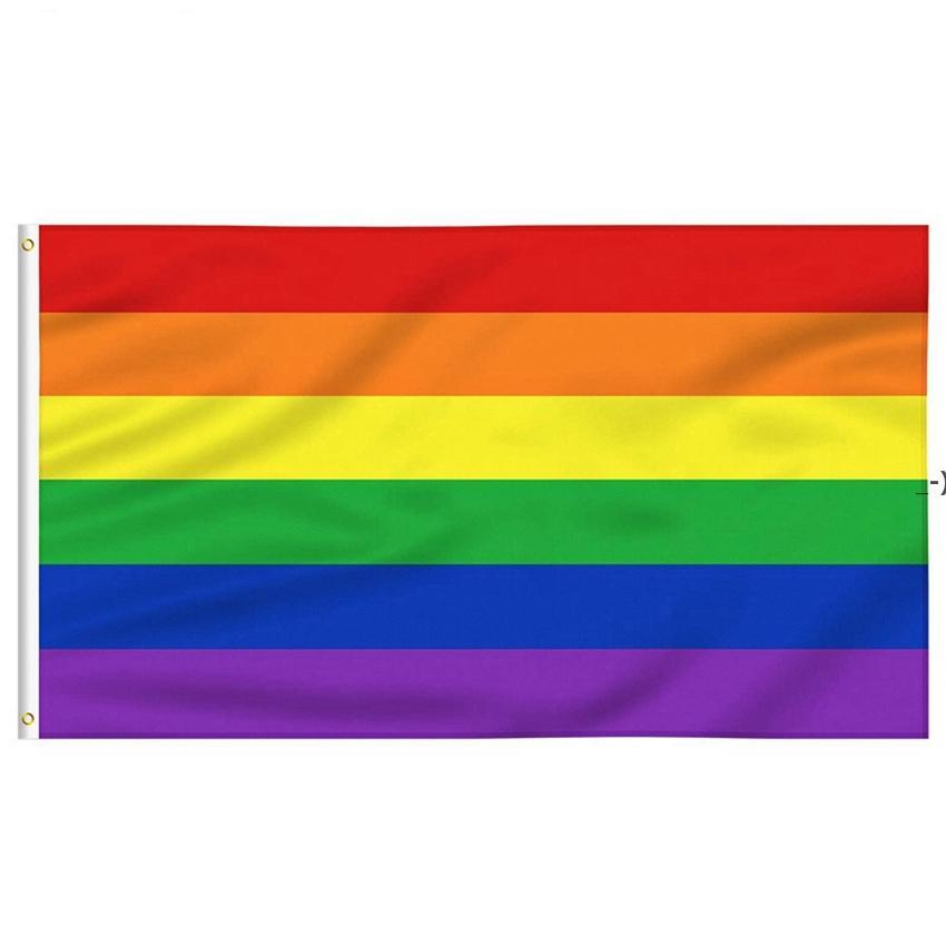 8 أنماط قوس قزح العلم راية 3x5ft 90x150 سنتيمتر مثلي الجنس فخر الأعلام البوليستر لافتات الملونة lgbt مثليه موكب الديكور HWF9394