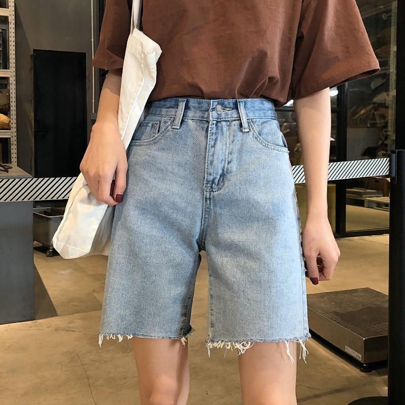 Nuevo chic hong kong estilo recto tubo suelto pantalones de pierna ancha suelta para mujeres en 2021