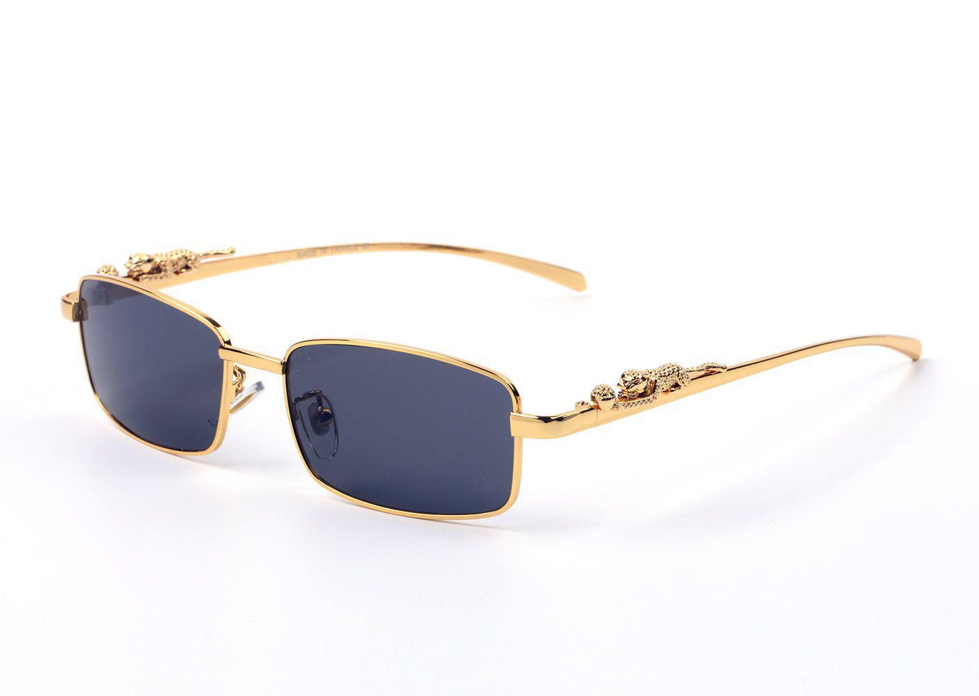 Klasik Tasarımcı Güneş Gözlüğü Metal Çerçeve Cam Lens Pilot Erkekler Kadınlar Vintage Tasarım Koruma UV400 Oculos De Sol Masculino Gafas aksesuarları Kutuları ile 58mm