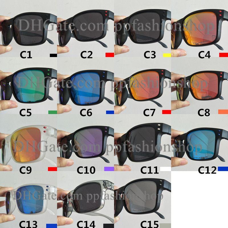 브랜드 스포츠 편광 된 선글라스 야외 승마 안경 낚시 고품질 안경 UV400 눈 보호 15 색