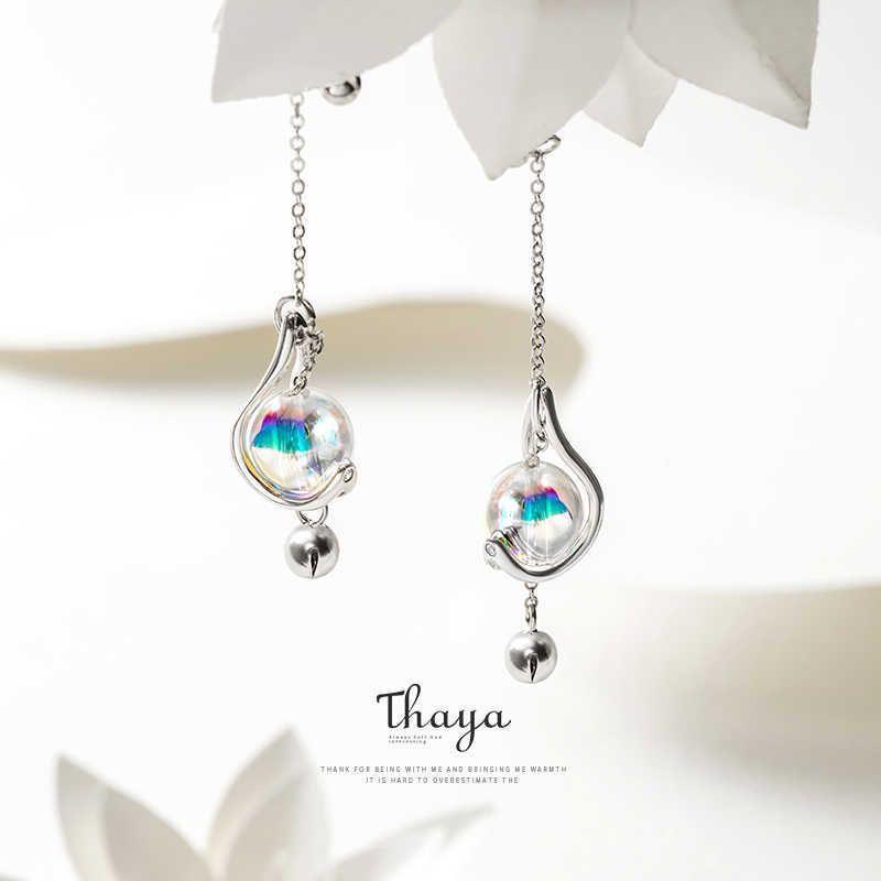 Серьги Thaya японских стилей 925 серебряные серебряные сережки радуги для девочек Специальные украшения для девочек CX200610