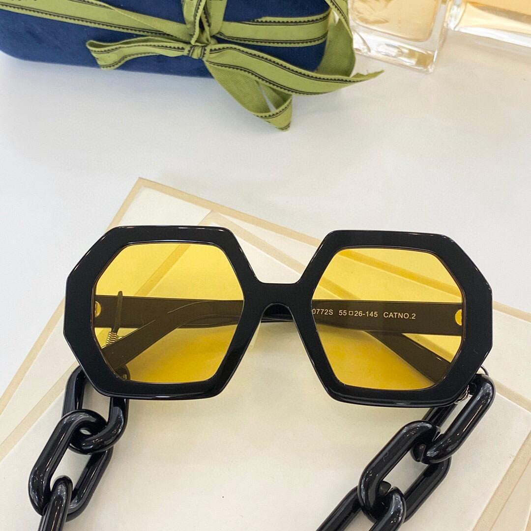 top quality 0772 mens sunglasses for women men sun glasses fashion style protects eyes UV400 lens with case