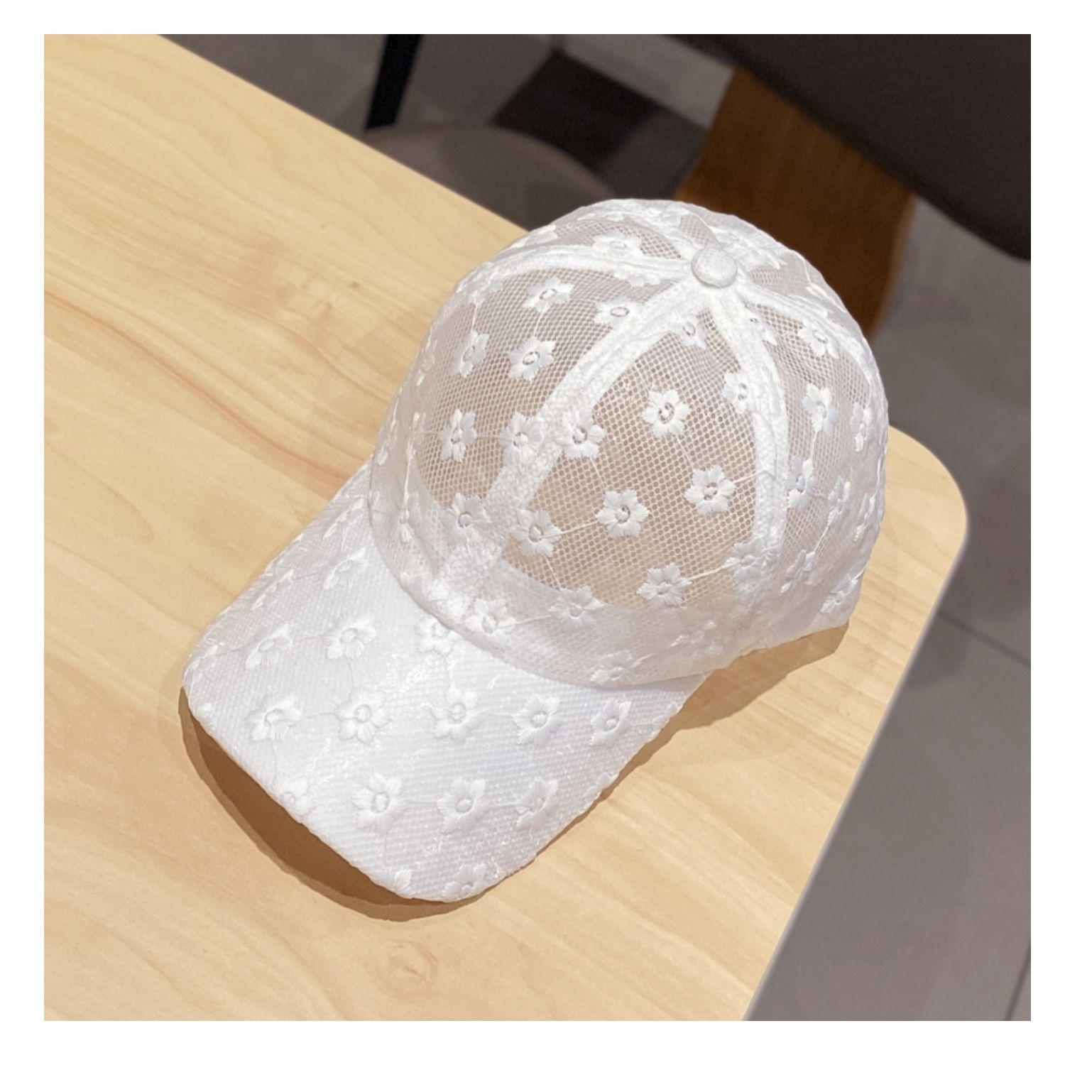Casquette fashion womens internet celebrity hat Lace is breathable chrysanthemum ball cap black white color mens bucket hats kanye