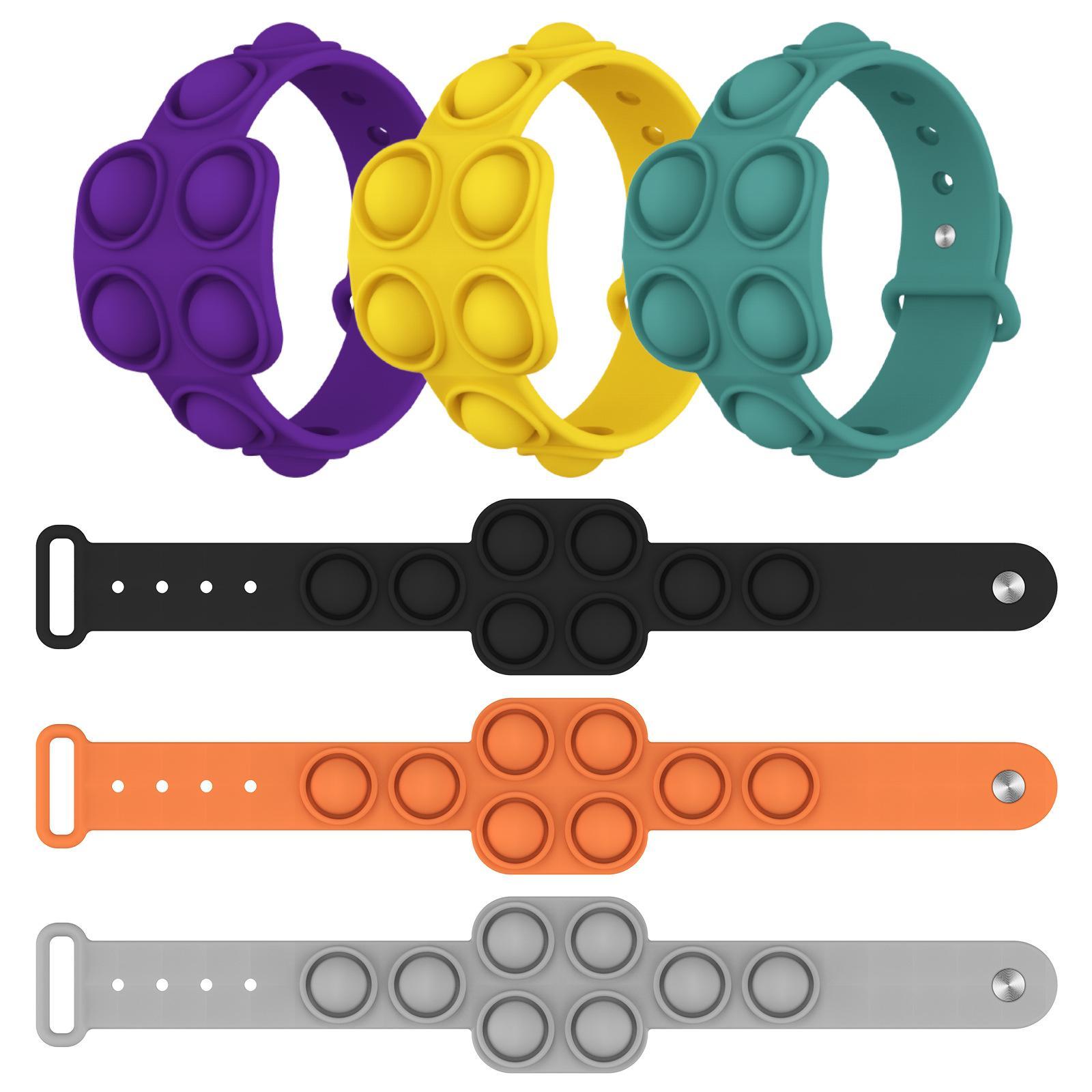 Fidget Reliver Stress Jouets Chiffre-Bracelet Poussez-la Bubble Antistress Adulte Enfants Adulte Jouet cadeau sensoriel pour soulager l'autisme