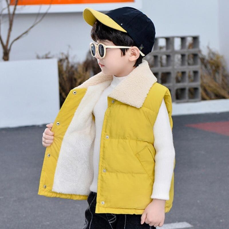 가을 겨울 아기 유아 허리 코트 소년 소녀 자켓 코트 키즈 소년 소녀 조끼 코튼 패딩 파카 아웃 겉옷