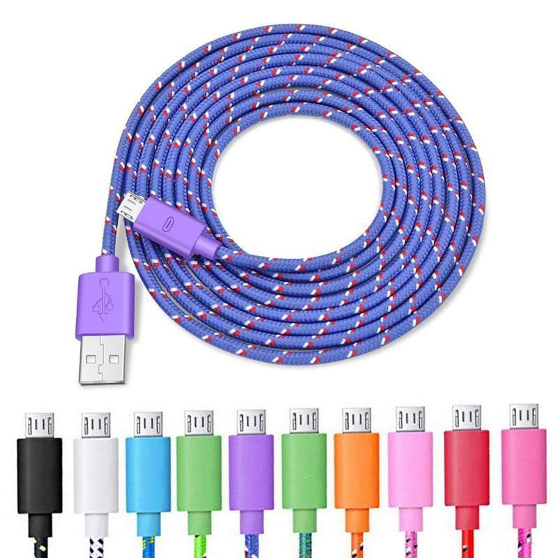 Braided Micro USB Cable Type C Cable 1M 2M 3M for Samsung High Speed Phone Charger Sync Data Cord for Android LG Cell Phone Cables