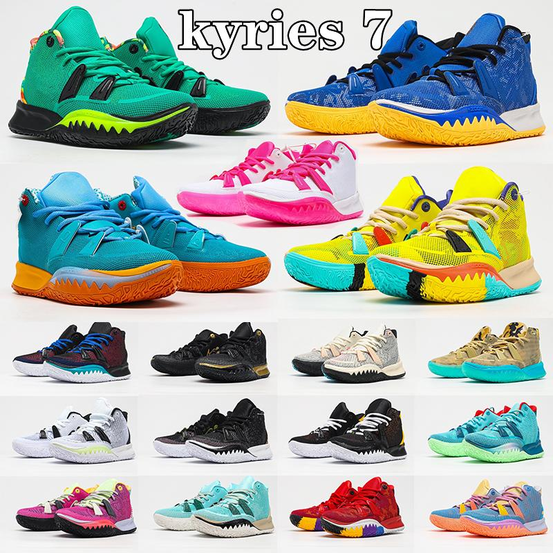 Kyries 7 Özel FX Ön-Isı Koleksiyonu 2021 Basketbol Ayakkabı Kyrie Erkekler Weatherman Daybreak Plaj Vibes Kardeşlik Simgeleri Spor Citron Darbe Tenis Sneakers