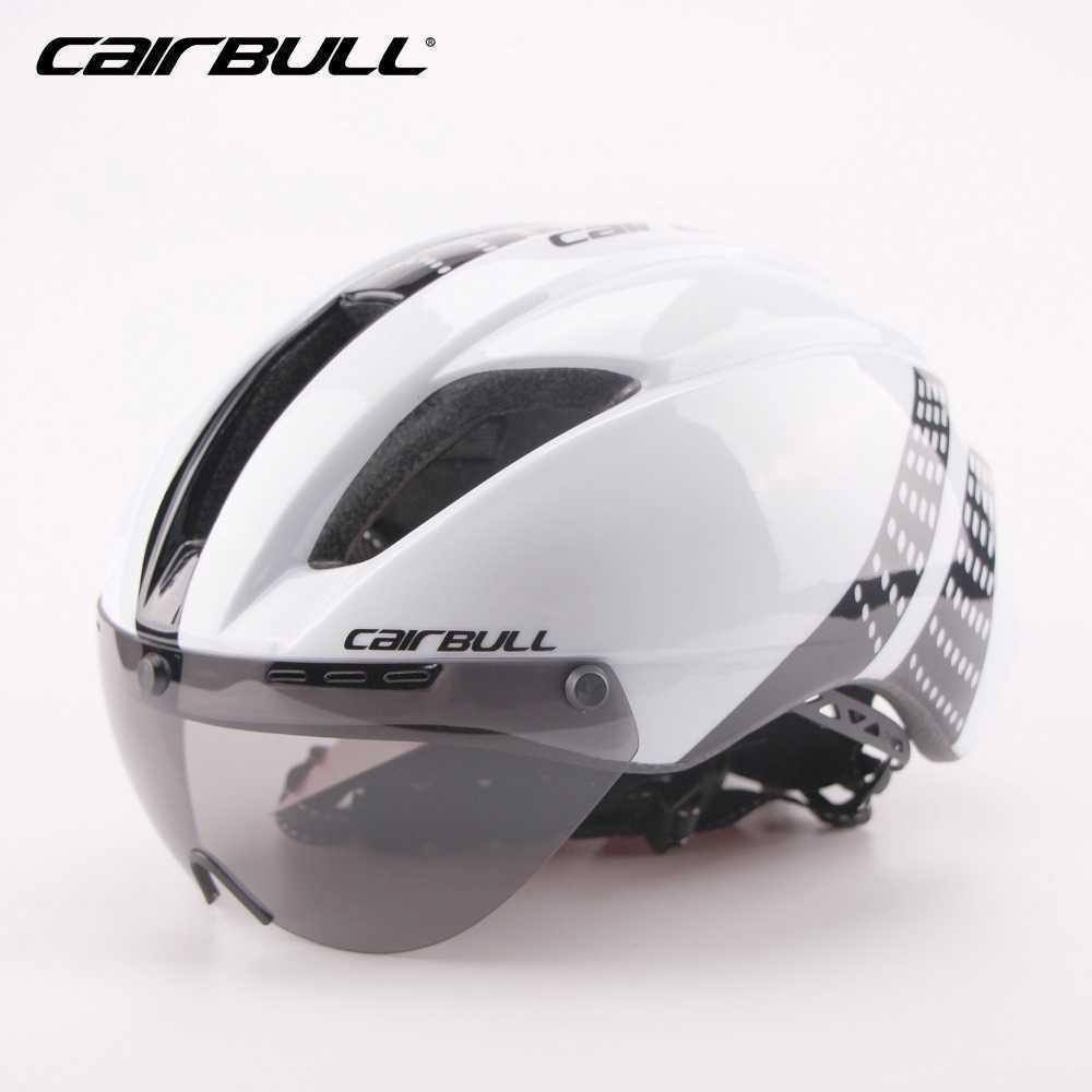 CAIRBULL 280G Ультра-Светлый Goggle TT Road Велосипедный шлем Мужчины Женщины Триатлон Время пробное испытание Aero Шлем M / L Защитный шлем P0824