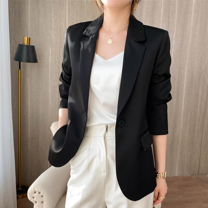 Kadın Trençkot Montları Asetik Asit Blazer Kadın Hırka Güneş Kremi Yaz Ceket K6PT