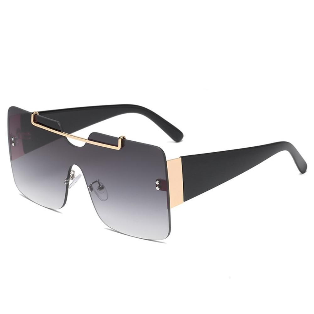 Óculos de sol aleatórios quadrados mulheres homens oversize retrô grande marca digner placa top um pedaço óculos uv400 fêmea fêmea