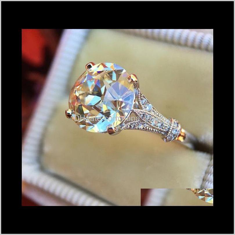 Bague de fiançailles en argent de haute qualité Bague de fiançailles en argent Bijoux de diamant simulé pour mariage T2Y38 JI0SZ