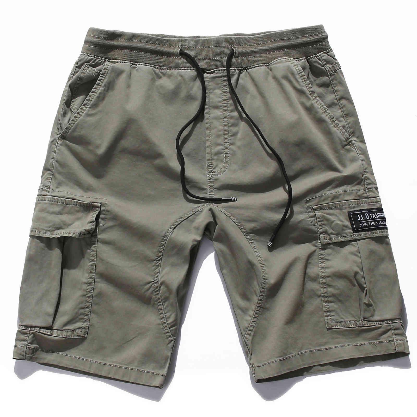 Pantalones cortos para hombres de verano de algodón casual de algodón pantalones pantalones cortos de estilo
