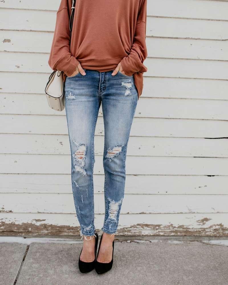 Звездная модель Высокие эластичные джинсы в 2021 новая мода