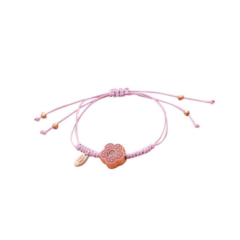 1pc Flower Bead Pulsera Cuerda de cera Bangle Mano Decoración de muñeca Decoración ajustable Cadena para niñas B Pulseras de encanto