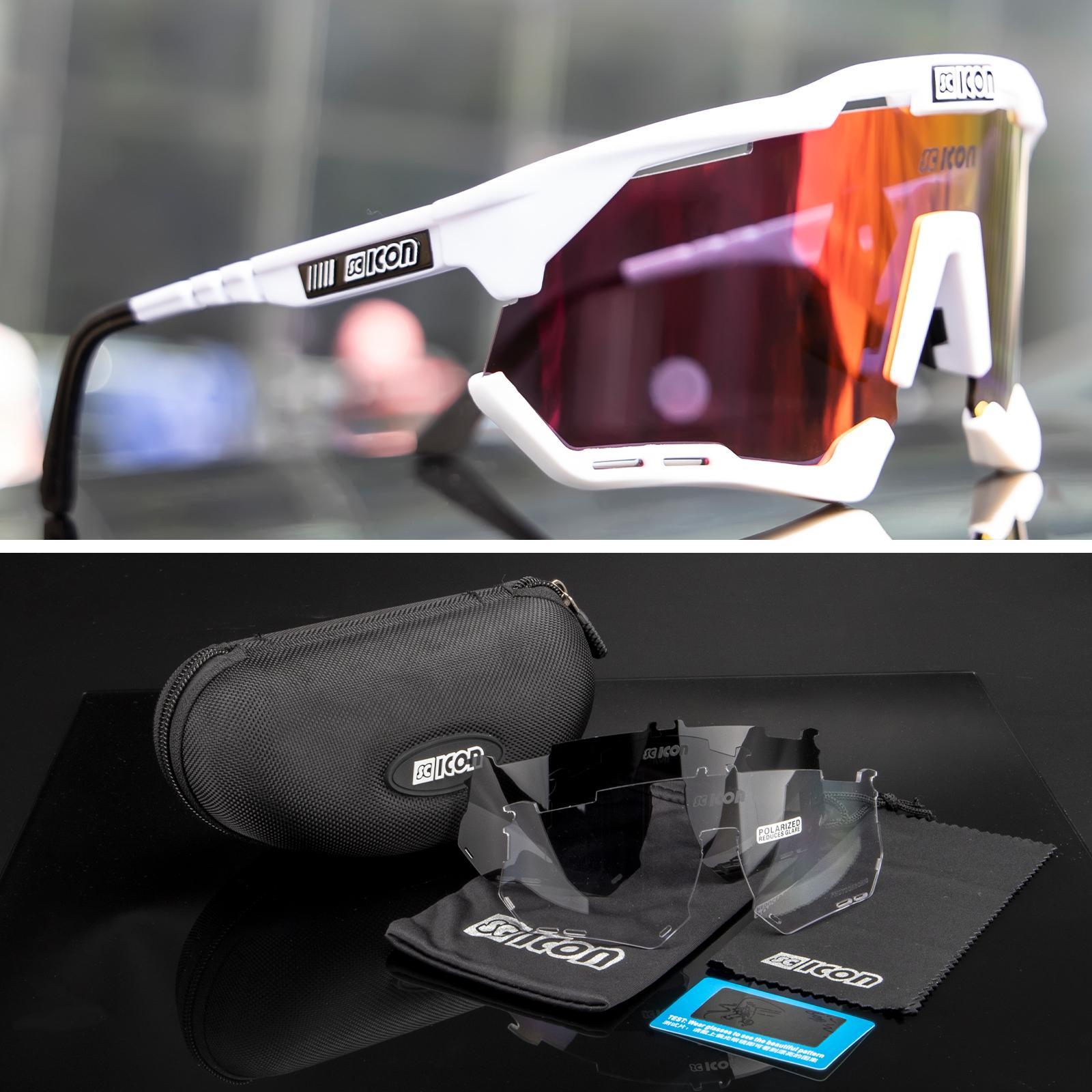 Occhiali da sole polarizzati Sport Protezione di sicurezza occhiali UV400 Occhiali da ciclismo Occhiali da pesca Bicycle Goggles da uomo Donna Bici da strada Antivento con cassa