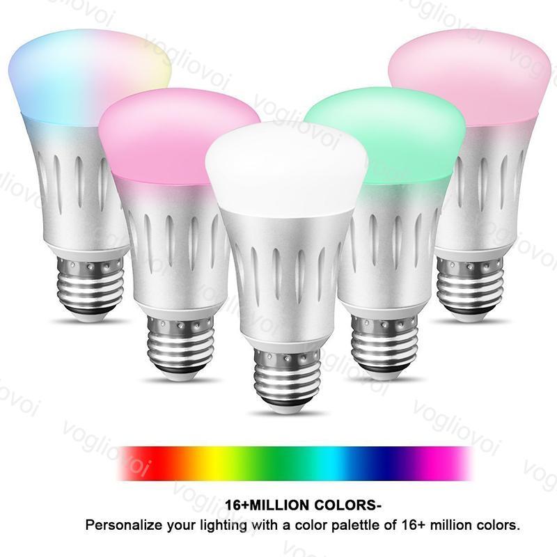 Lampadine a LED 7W WiFi Smart Light Light Lampadina E27 RGBW Lampada Colorata Modifica lavoro con Google Home Alexa DHL
