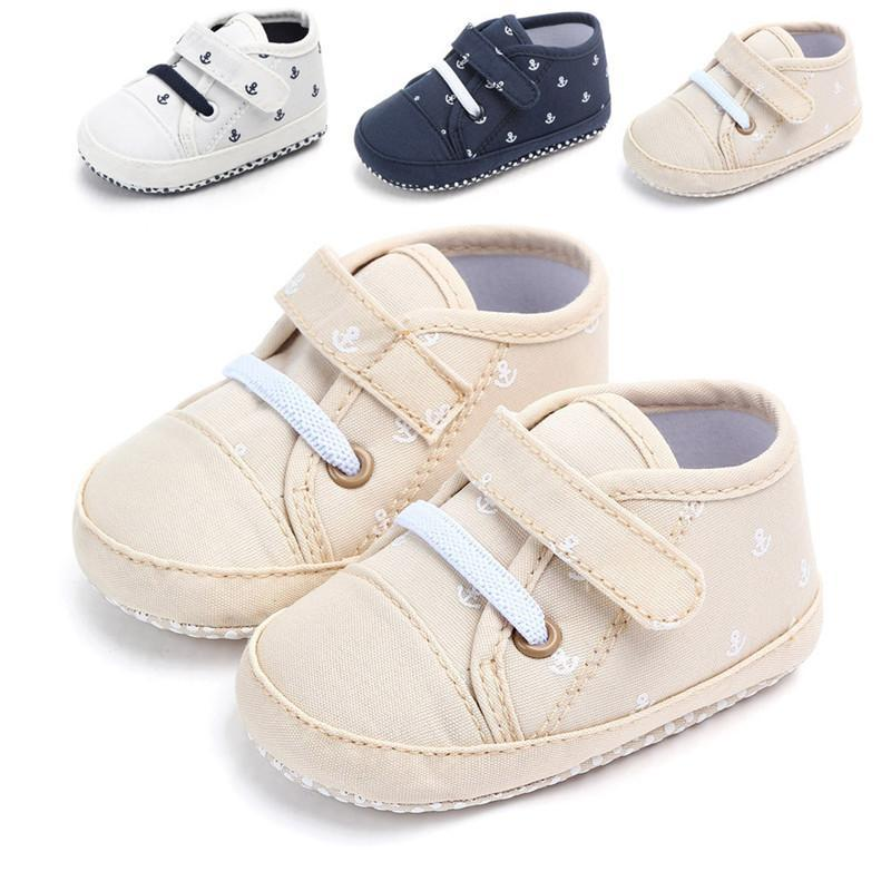 Родившийся малыш классический холст детская кроватка детская обувь младенческая первая ходьба малыш мальчиков девочек мягкий хлопок простые повседневные противоскользящие ходунки