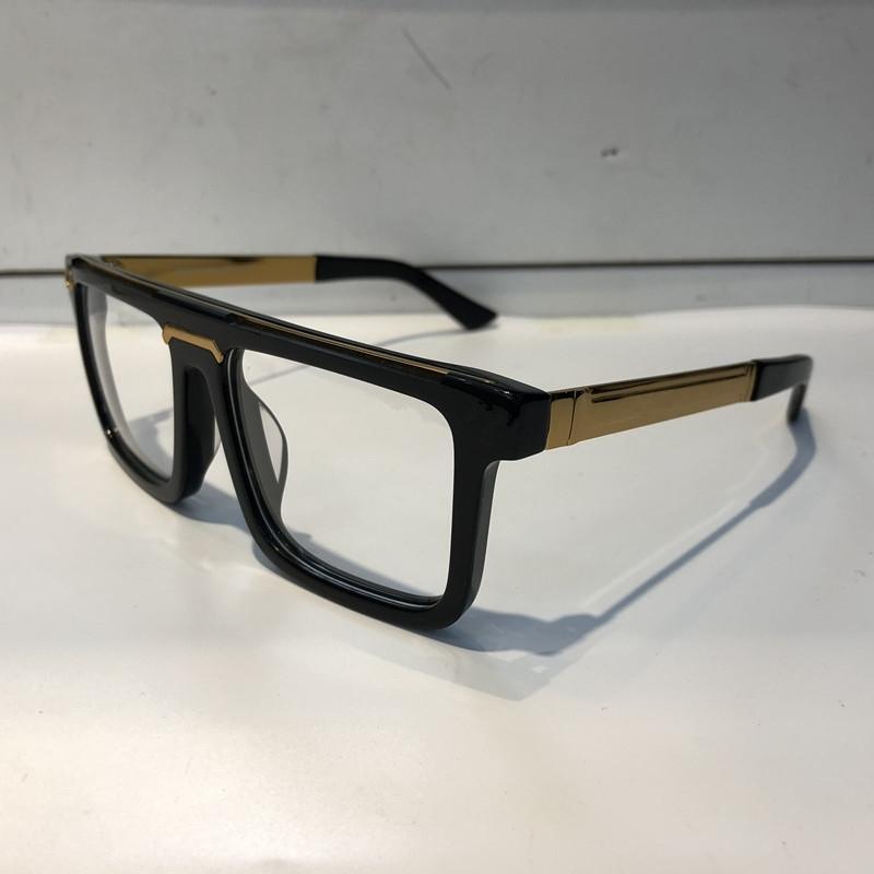 Lusso 0078 bicchieri per uomini di moda design di marca popolare scava fuori obiettivo ottico lente cat eye full frame nero tartaruga argento con pacchetto
