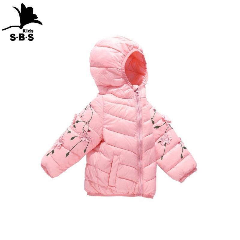 여자 인쇄 수 놓은 자켓 어린이 겨울 코트 키즈 두꺼운 따뜻한 웜 다운 재킷 청소년 유아 소녀 옷