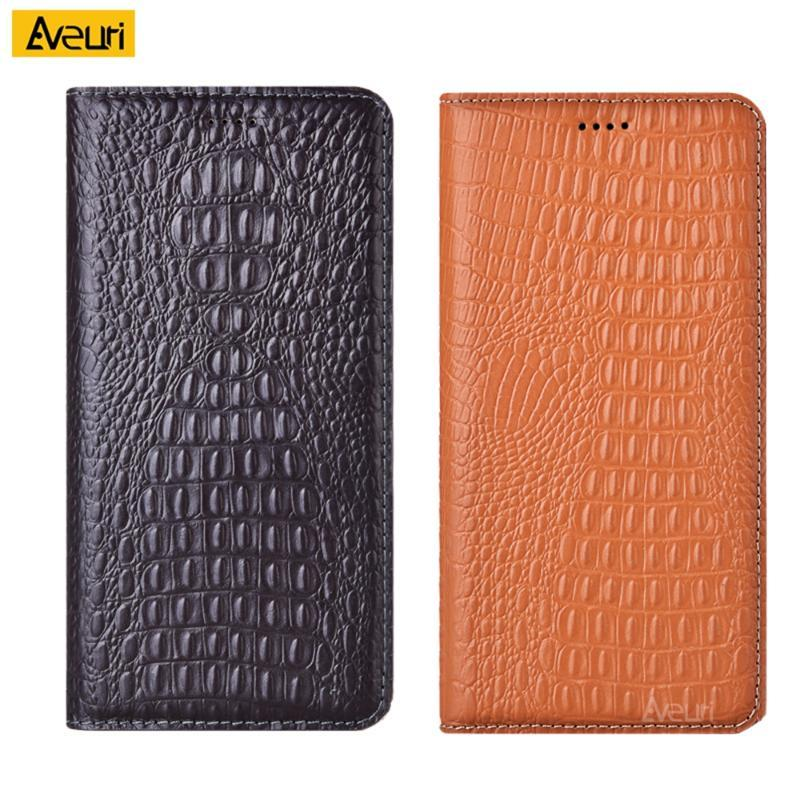 Krokodil Echtes Leder Telefon Fall für Huawei Honor 8 9 10 Lite 20 I 10i 20s 8x 9x Abspielen 3 View 30 Pro Deckel Coque Cell Case
