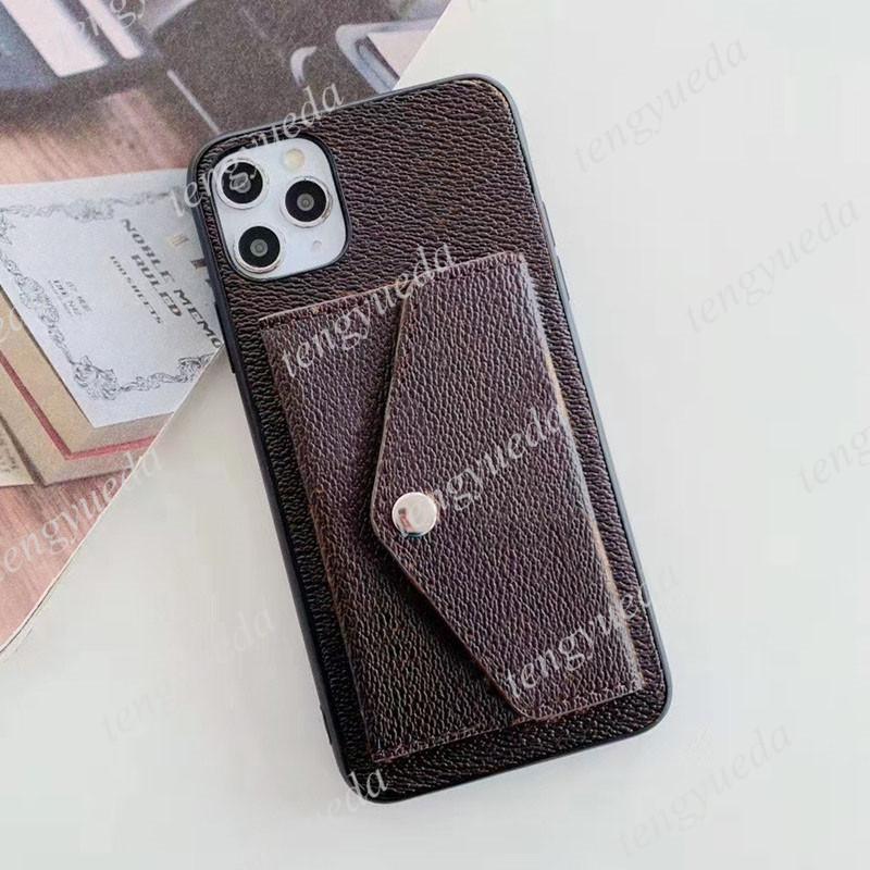 상위 패션 디자이너 iPhone 13 13pro 12 12pro 11 프로 최대 XS XR XSMA 7 8Plus 고품질 가죽 카드 홀더 럭셔리 핸드폰 커버