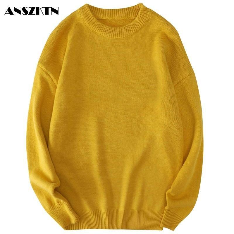 Men's Sweaters Men Autumn Solid Jumpers Pullovers Male Knitwear Man Big Plus Size 8xl 7xl 6xl 5xl Simple Winter Mens Oversized Sweater
