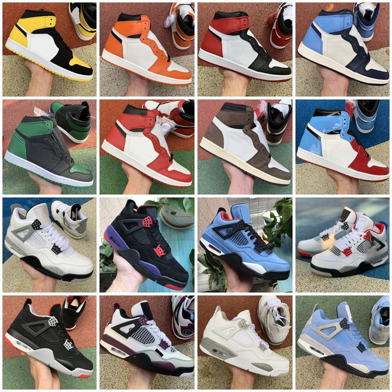 Erkekler Açık Ayakkabı Sneakers 1 S Üniversitesi Mavi Gümüş Toe 4 S Yangın Kırmızı Carmine 25. Yıldönümü 1 4 Azgın Bull Kadın Eğitmen Adam Açık Havada Ayakkabı