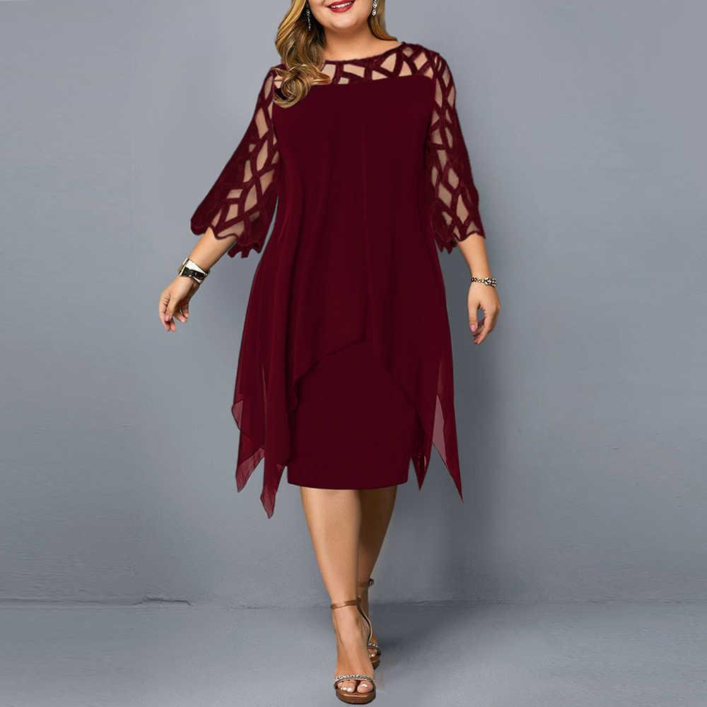 Women Summer Dress Elegant Mesh Evening Party Dresses Wine Red Women's Clothing Summer Casual Dress Wedding Club Outfits 210918