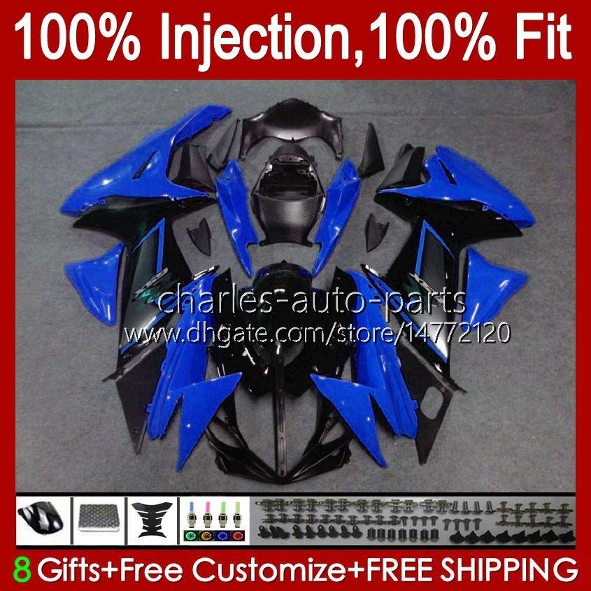 Suzuki GSXR-750 GSXR600 için Enjeksiyon Mavi Parlak GSXR 600 750 CC 10HC.100 GSXR750 11 12 13 14 2015 2016 2017 K11 GSXR-600 600CC 750CC 2011 2012 2013 2014 15 16 17 Fairing