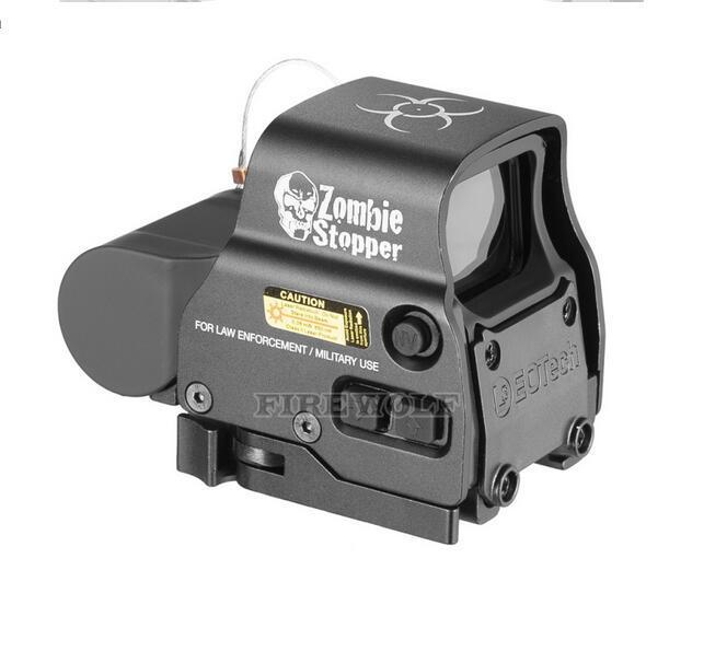 전술 장난감 소총 좀비 스토퍼 558 HD 퀵 릴리스 홀로그램 반사 빨간색 녹색 도트 시력 야외 사냥 범위 밝기 조정 가능한 검정